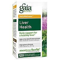 Gaia Herbs, Здоровье Печени 60 овощных жидких фито-капсул