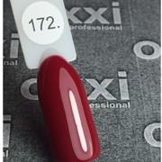 Гель лак Oxxi №172 (темный красный эмаль),8 мл