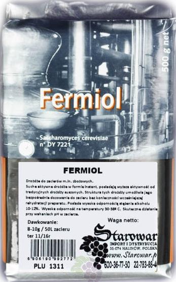 Дрожжи спиртовые для зерновых FERMIOL 500г