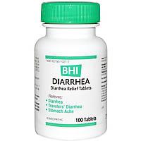 MediNatura, BHI, средство от диареи, 100 таблеток