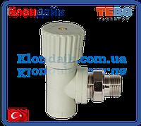 PPR Tebo вентиль радиаторный угловой D 25*3/4