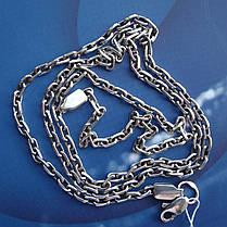Серебряная цепочка, 600мм, 14 грамм, якорное плетение, фото 3