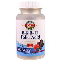 KAL, B-6 B-12 Folic Acid ActivMelt, 60ct