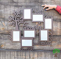Фоторамка из дерева, семейная фоторамка