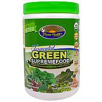 """Divine Health, """"Ферментированный зеленый сверхпродукт"""", органическая ферментированная смесь из овощей и зелени, 7,40 унции (210 г)"""
