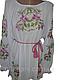 """Жіноча вишита сорочка (блузка) """"Яскраві лілії"""" (Женская вышитая рубашка (блузка) """"Яркие лилии"""") BN-0019, фото 3"""