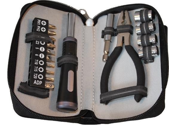 Компактний набір інструментів Stinger 6812B, чорний