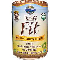 Garden of Life, Органический, RAW Fit, с высоким содержанием протеина для похудения, шоколадное какао, 1 фунт (450 г)