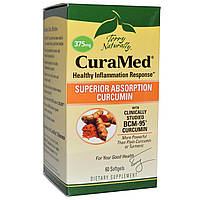 EuroPharma, Terry Naturally, Terry Naturally, CuraMed, 375 мг, 60 желатиновых капсулы