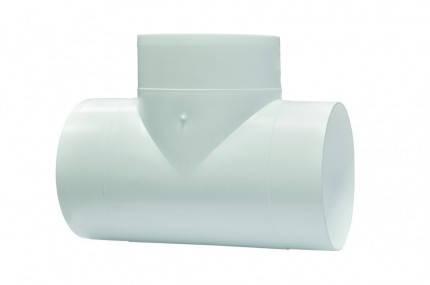 Тройник Т-образный для круглых каналов метал D 150 мм Эра, фото 2
