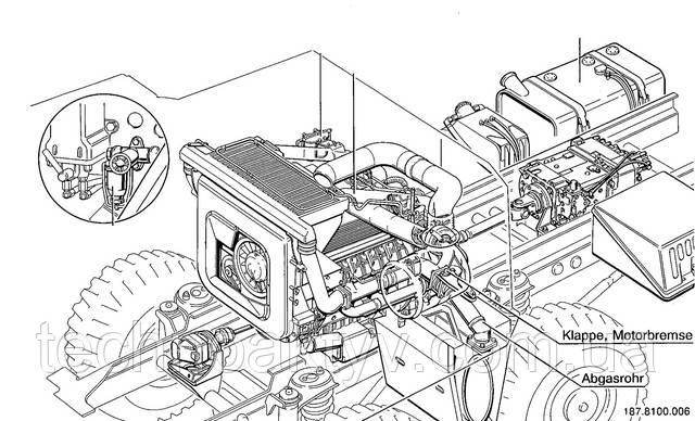 Один из вариантов адаптация мощного компрессорного двигателя Deutz BF12L 413FC на шасси транспортного средства