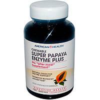 American Health, Пищевая добавка «Супер ферменты папайи плюс», 180 жевательных таблеток