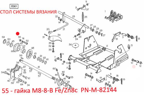 гайка М8-8-В Fe/Zn8c  PN-M-82144