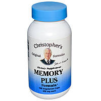 Christopher's Original Formulas, Формула Memory Plus, 450 мг, 100 растительных капсул