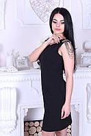 Платье женское с цепочками на плечах