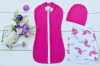Пеленка - Двойка (Розовый Фламинго )