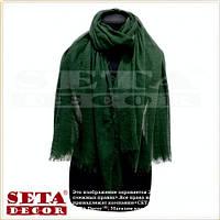 Женский большой шарф зеленый