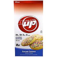 YUP, B Up, протеиновый батончик, сахарное печенье, 12 батончиков - 2.2 унции(62 г) каждый