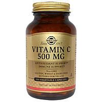 Solgar, Витамин C, 500 мг, 100 вегетарианских капсул, официальный сайт