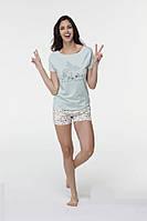 Женская летняя пижама шорты и футболка Hays 6530. Коллекция одежды HAYS Лето 2017