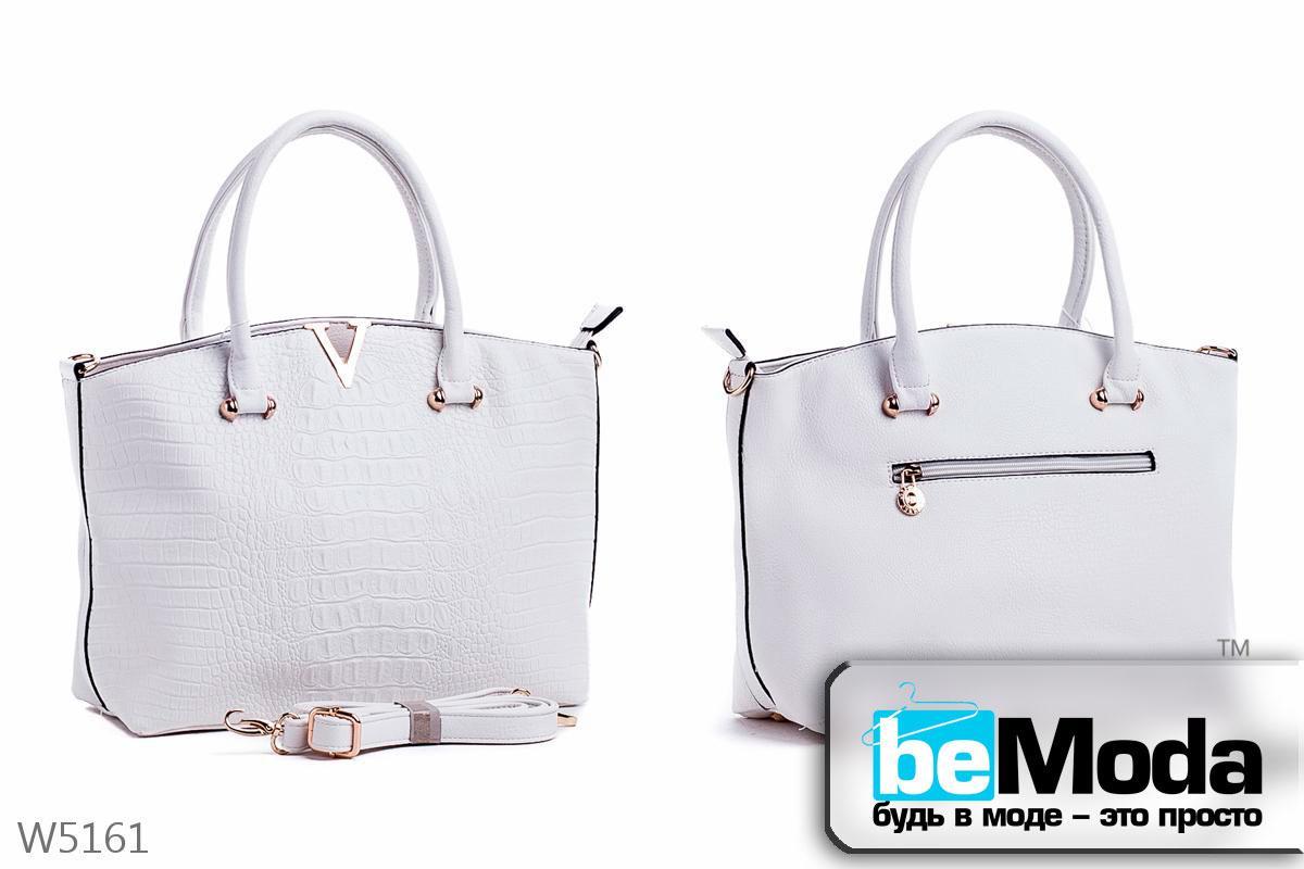 Стильная женская каркасная сумка Little Pegion WHITE из оригинальной экокожи с металлическим декором белая - Модная одежда, обувь и аксессуары интернет-магазин BeModa.com.ua в Белой Церкви