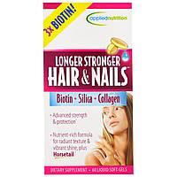 Irwin Naturals, Более длинные и сильные волосы и ногти, 60 жидких гелевых капсул
