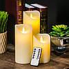 Электронные свечи с имитацией пламени и пультом управления набор