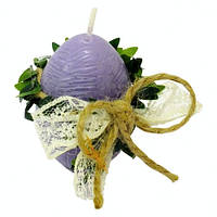 Пасхальная свеча пасхальное Яйцо с декором сиреневое