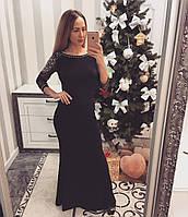 Шикарное вечернее женское платье с камнями
