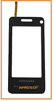 Сенсор (тачскрин) Samsung F490 Black Original
