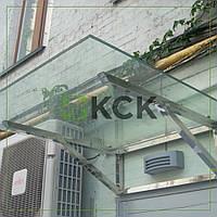 Навес из стекла и нержавеющей стали