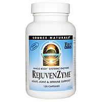 Source Naturals, Восстанавливающие ферменты RejuvenZyme, 120 капсул