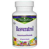 Paradise Herbs, Ресвератрол, 60 вегетарианских капсул