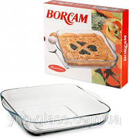 """Форма квадратная 280 мм из жаропрочного стекла """"Borcam 59024"""" 1 шт."""