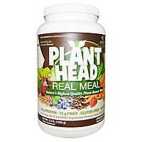 Genceutic Naturals, Plant Head, дополнительный источник растительного белка, клетчатки и аминокислот, ванильный вкус, 2.3 фунта (1050 г)