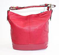 Женская сумка на одну ручку красного цвета