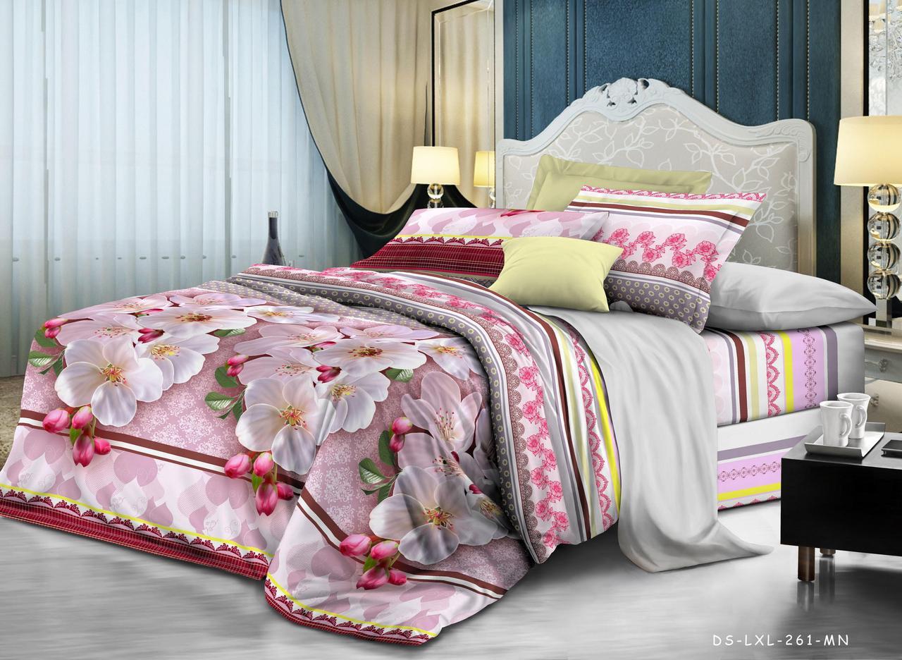 Полуторный комплект постельного белья Шиповник