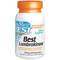 Doctor's Best, Best, Люмброкиназа, 20 мг, 60 капсул