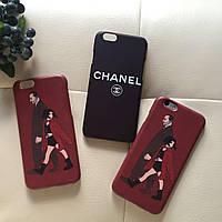 Дизайнерский пластиковый чехол с логотипом Шанель для iPhone 6/6s