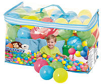 Шарики мягкие для сухих бассейнов и палаток, домиков 65 мм 100 шт в сумке Bestway.