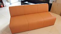 Офисный диван из кожзаменителя без подлокотников