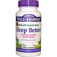 Oregon's Wild Harvest, Sleep Better , 90 вегетерианских капсул без ГМО