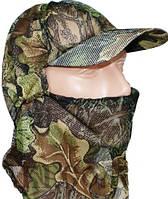 Маскировочная кепка с сеткой на лице, расцветка дуб.