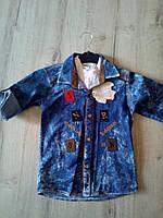 Детская джинсовая рубашка 12265 Турция