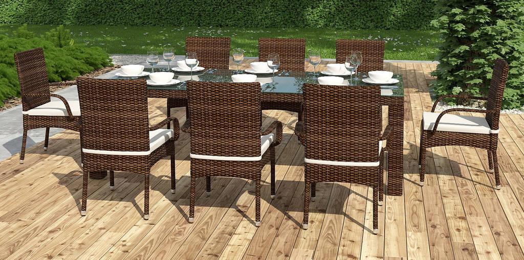 Комплект Orso XL  стіл 200см+8 крісел Piccione