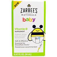Zarbee's, Нэчуралс, витамин D для малышей, 0,47 жидк. унц. (14 мл)