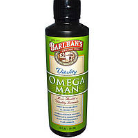Barlean's, Органическое масло, Omega Man, формула для мужского здоровья и жизненной силы, 12 жидких унций (350 мл)