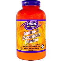 Now Foods, Спорт, порошок из 9 незаменимых аминокислот, 11,64 унции (330 г)