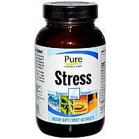 Pure Essence, Пищевая добавка «Стресс», 4-сторонняя система помощи при стрессе, 60 таблеток
