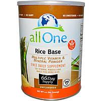 All One, Nutritech, Рисовая основа, Несколько витаминов и минералов в порошке, без вкуса 2.2 фунта (1000 г)